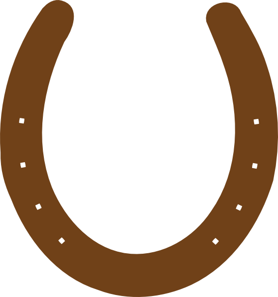 Horseshoe transparent clip art. Brown png library