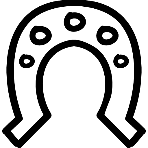 Vector magnet horshoe. Horseshoe with holes hand