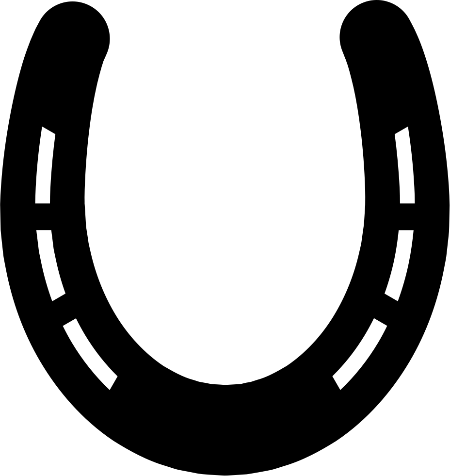 Horseshoe transparent svg. Without holes and with