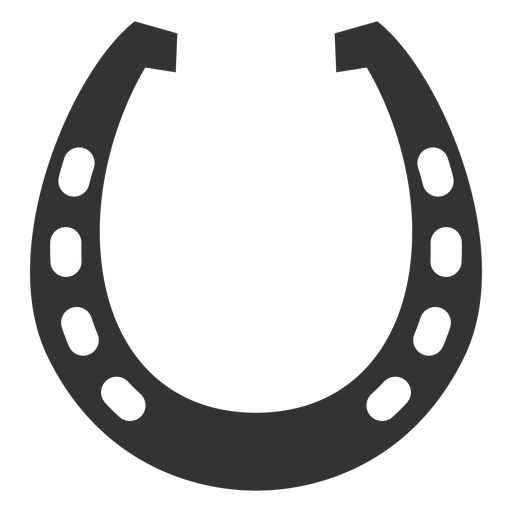 Horseshoe vector png. Horse shoe silhouette at