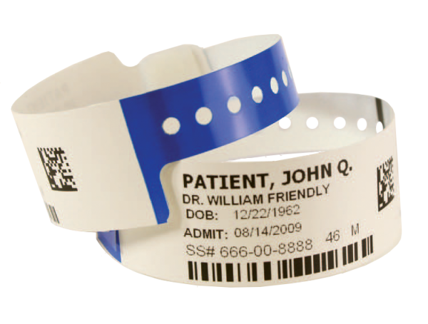 Hospital band png. Patient id wristbands identification