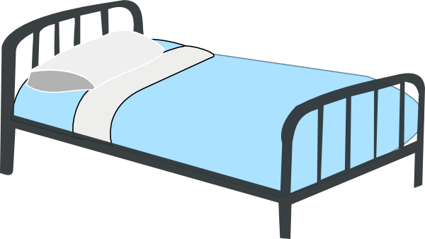 Drawing bed hospital. My biggest clipart lesson