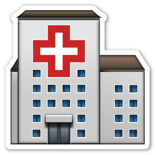 Hospital transparent. Emojistickers com