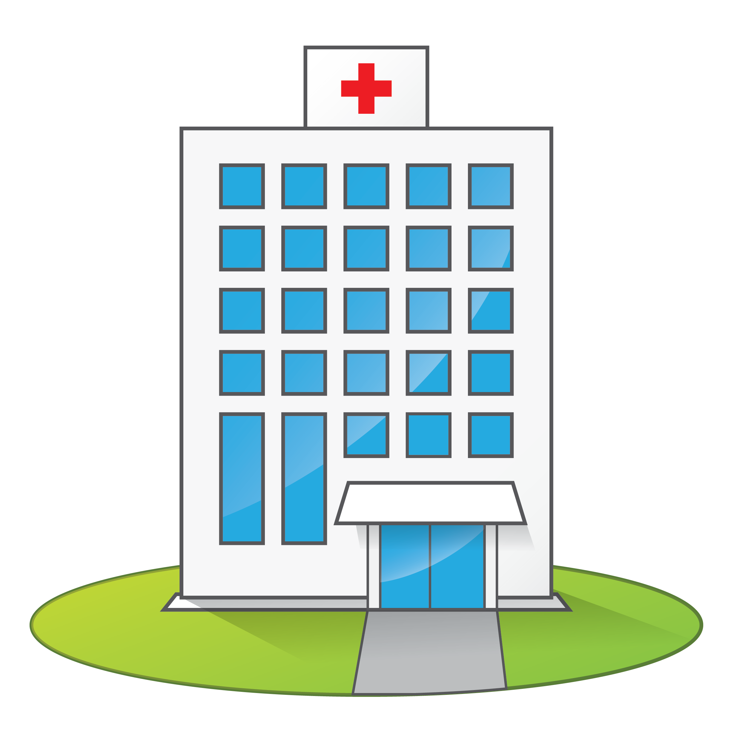 Hospital transparent animation. Collection of clipart