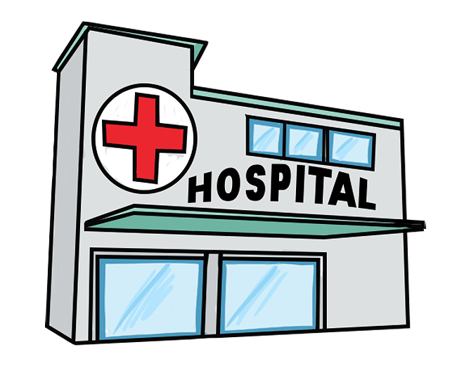 Hospital transparent simple. Collection of free hospitaler