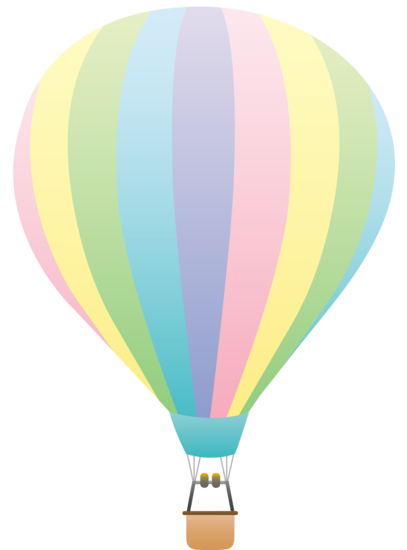 Hot air balloon clip art png. Pastel rainbow balloons pinterest