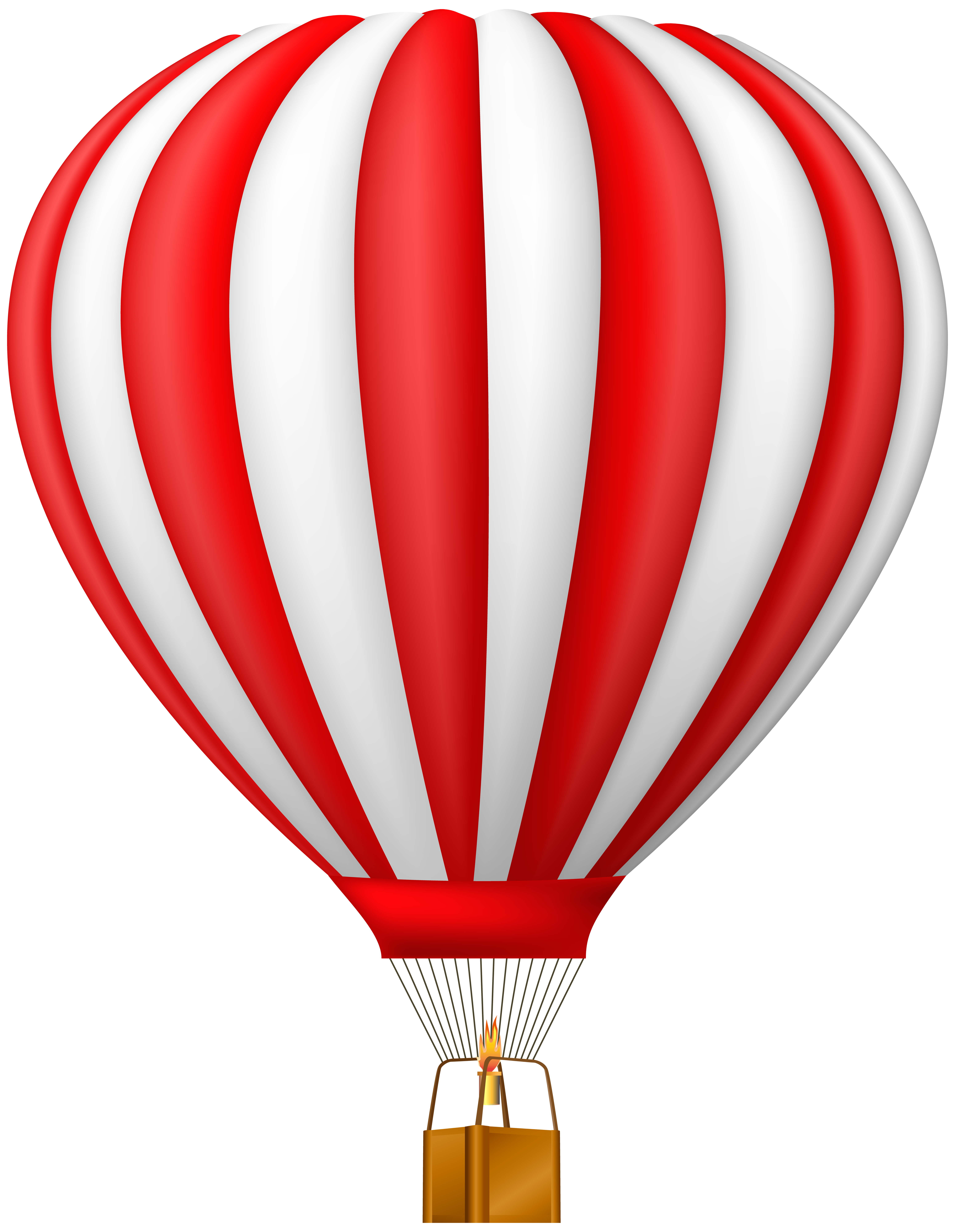 Hot air balloon clip art png. Red transparent gallery yopriceville