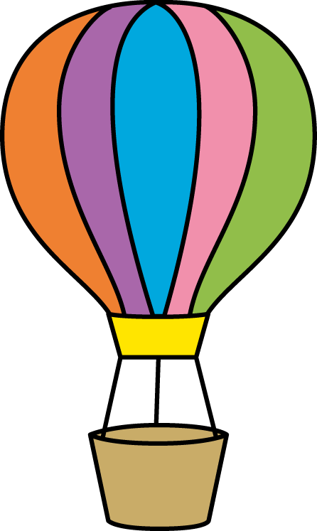 Hot air balloon clip art png. Colorful cut pinterest balloons