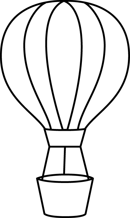 Hot air balloon outline png. Term goals i modelled