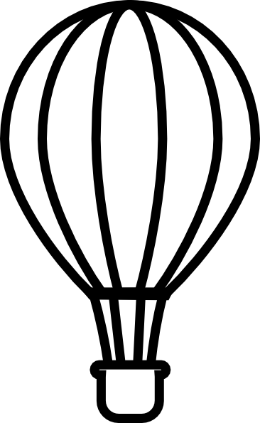 Hot air balloon outline png. Black clip art at