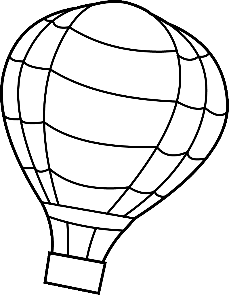 Hot air balloon outline png. Coloring pages free large