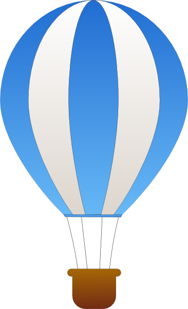 Hot air balloon outline png. Clip art at clker