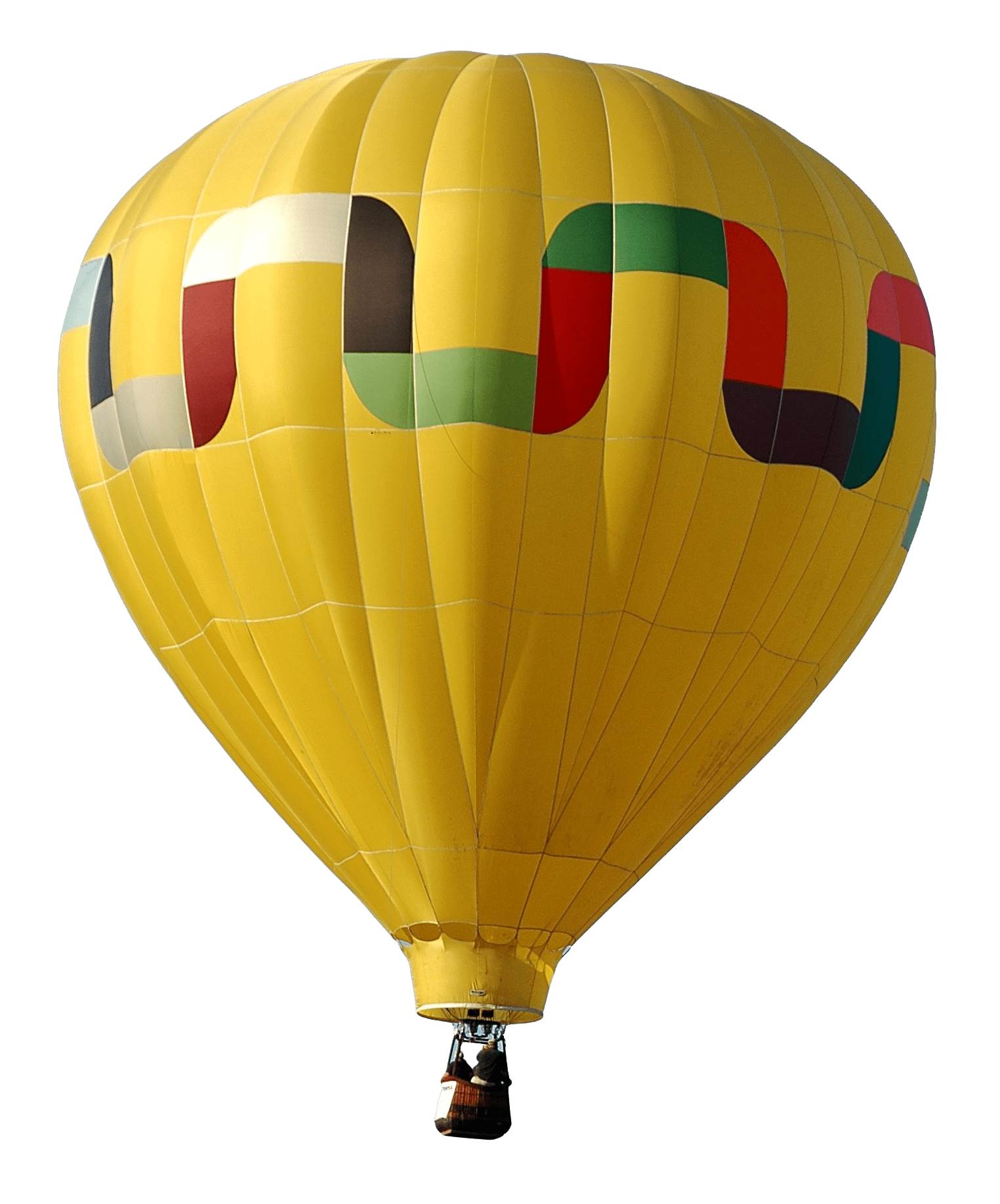 Hot air balloon png. Yellow transparent stickpng download