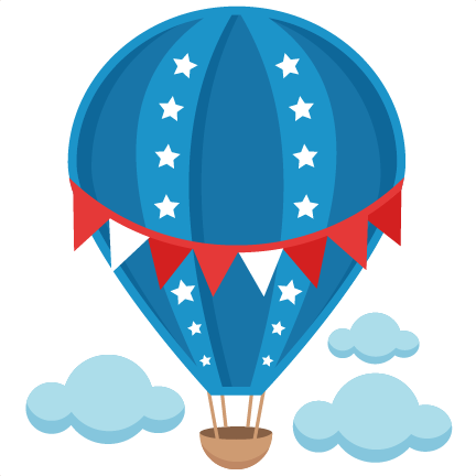 Patriotic hot balloon svg. Air clipart cute png library