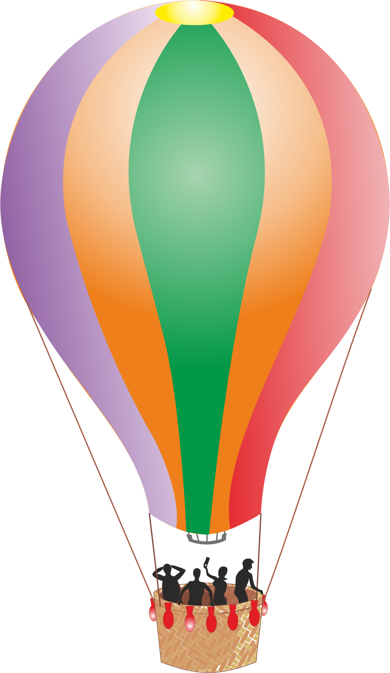 Hot air balloon .png. Colorful detailed icons png