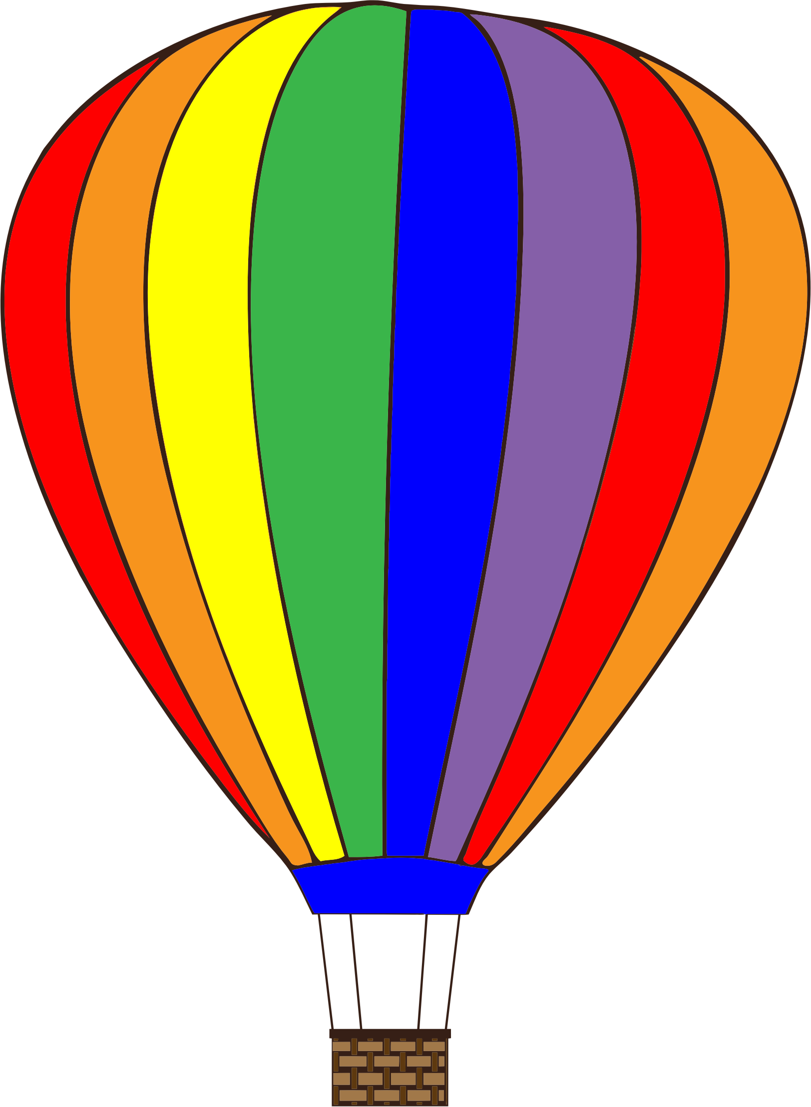 Hot air balloon .png. Colorful icons png free