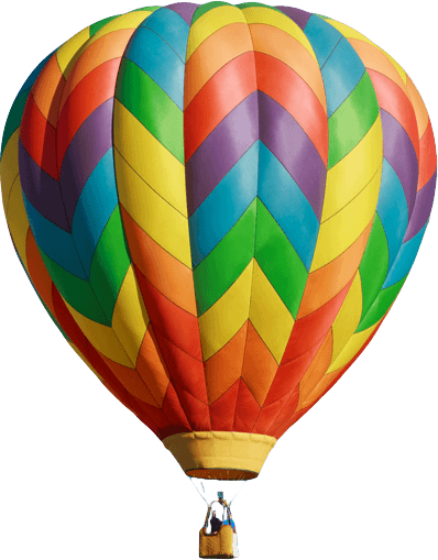 colorful hot air balloon png