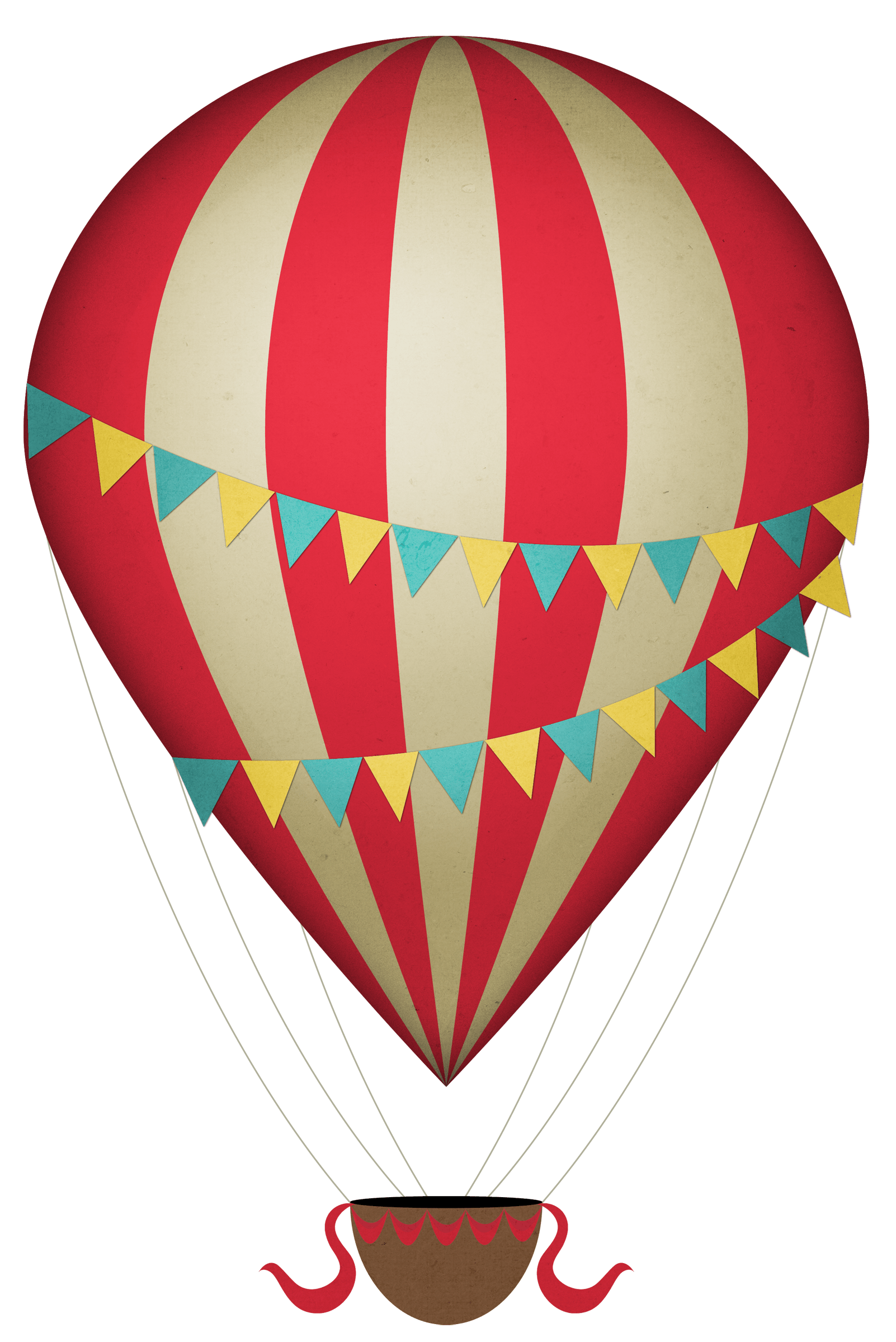 Hot air balloon png. Vintage clipart transparent stickpng