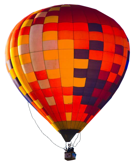 Hot air balloon png transparent background. In flight no image