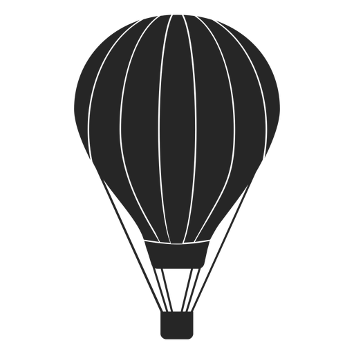 Hot air balloon silhouette png. Striped transparent svg vector