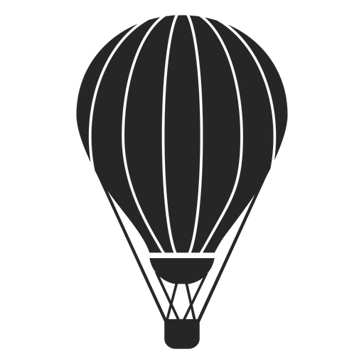 Hot air balloon silhouette png. Stripes transparent svg vector