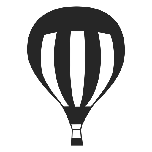 Hot air balloon silhouette png. Lined transparent svg vector