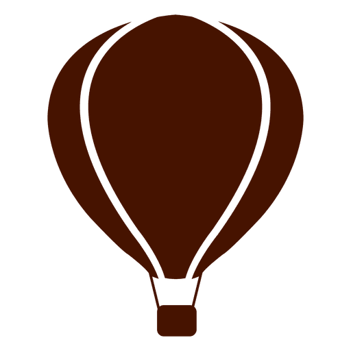 Hot air balloon silhouette png. Transport icon transparent svg