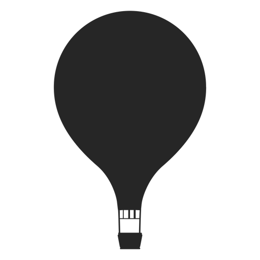 Hot air balloon silhouette png. Simple transparent svg vector
