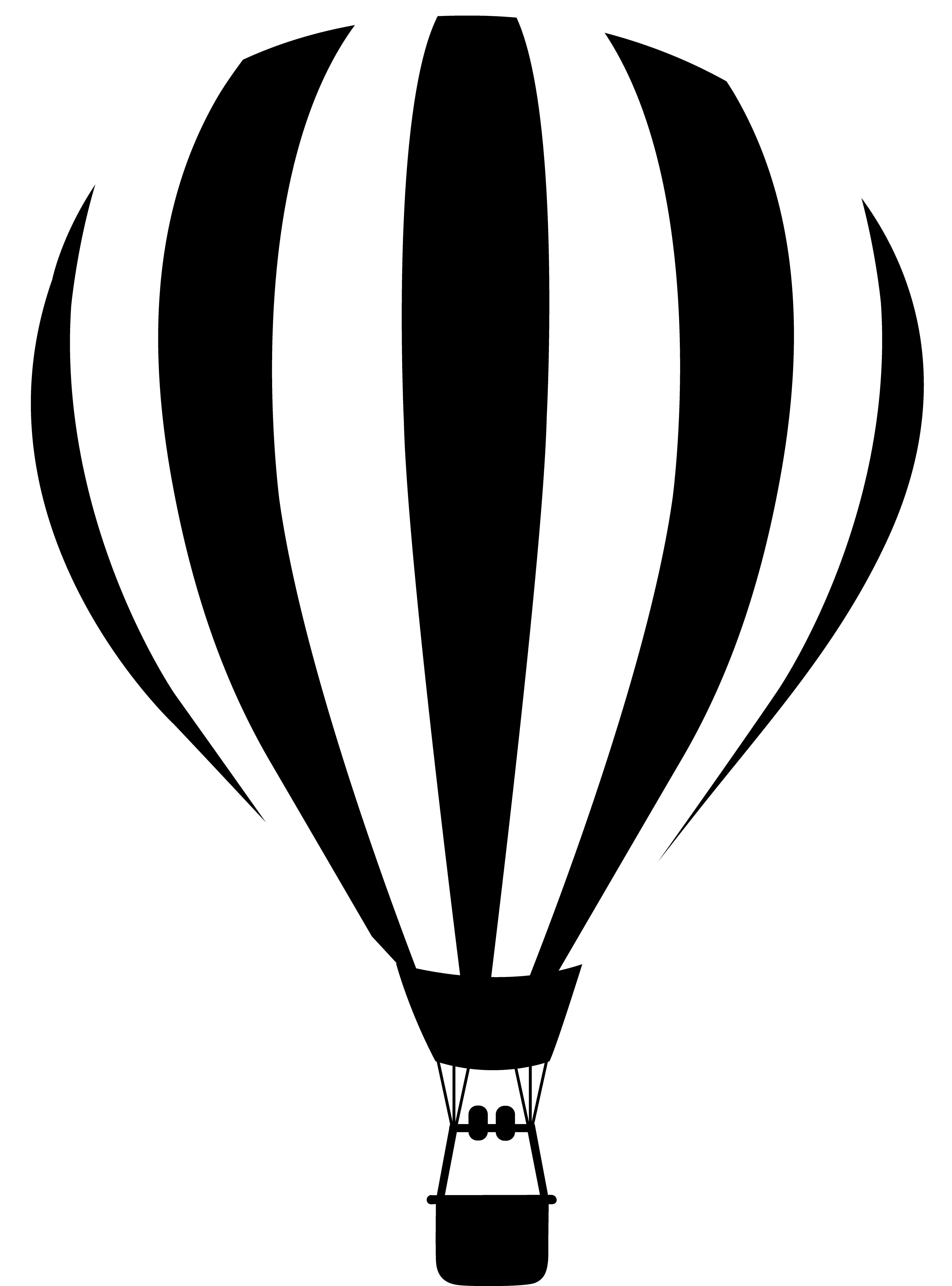 Hot air balloon silhouette png. Black and white images