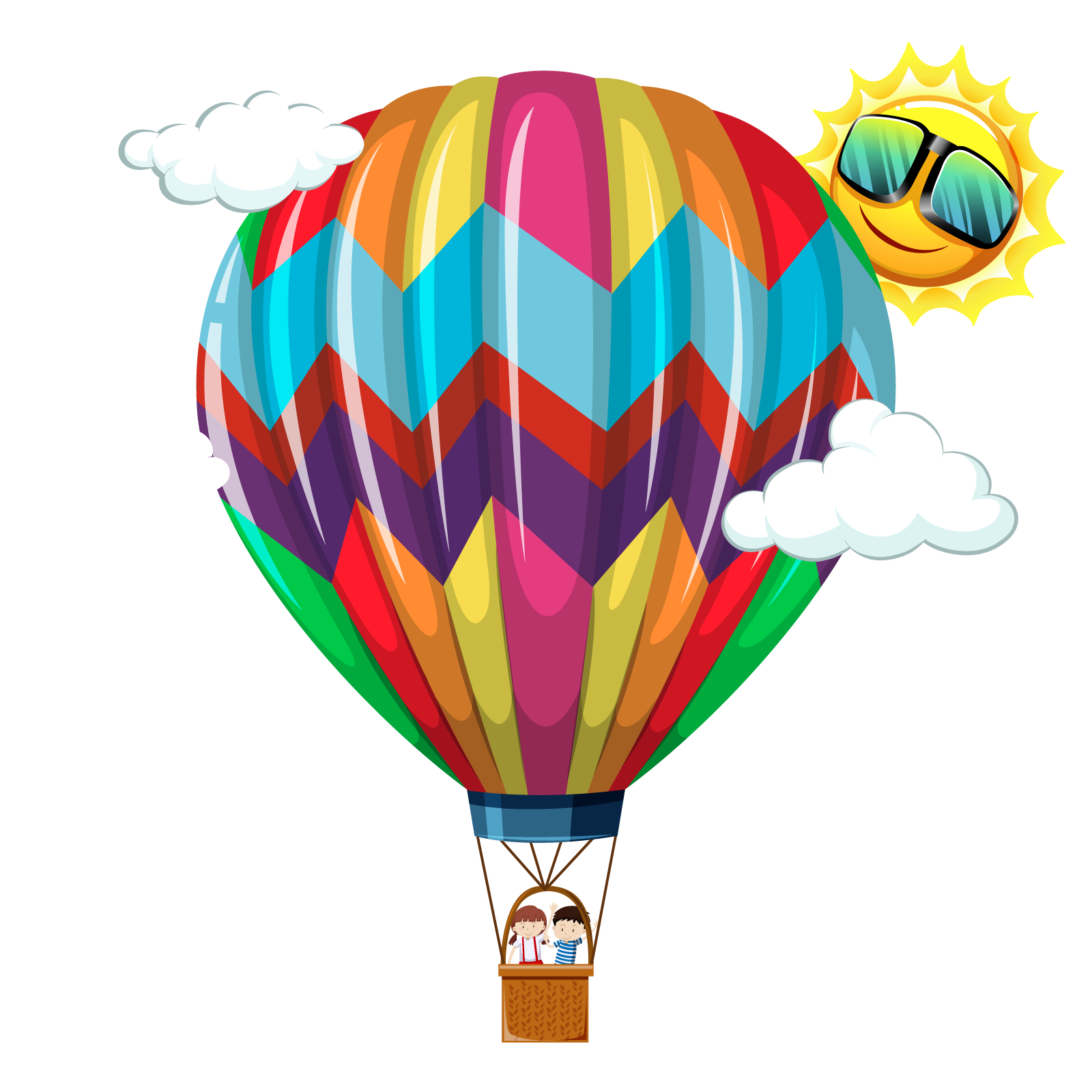 Hot air balloon vector png. Transprent free download