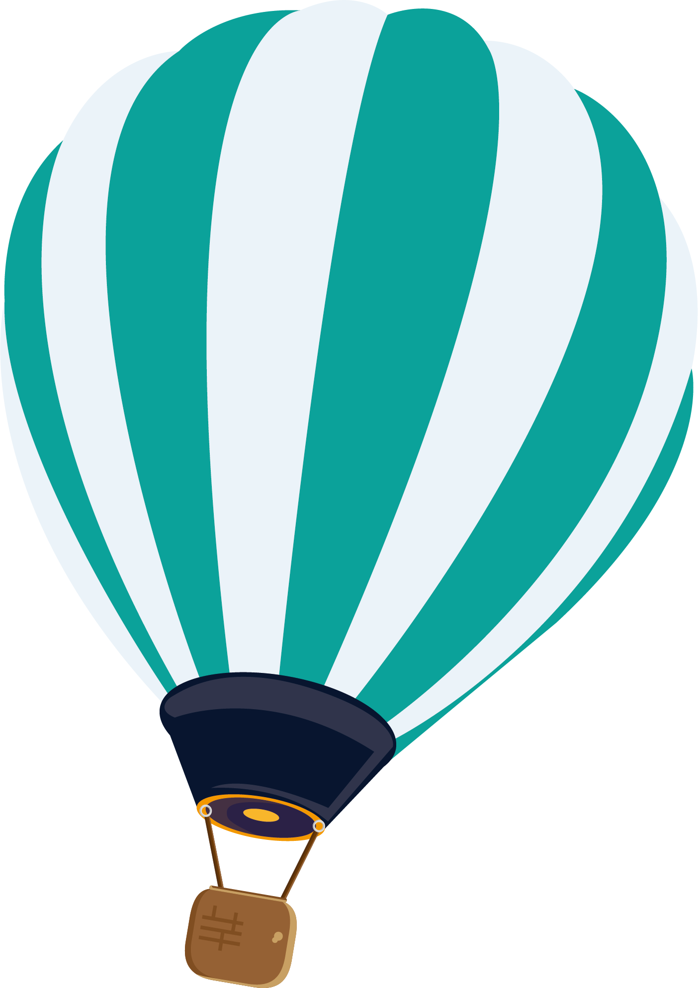 Hot air balloon vector png. Euclidean striped transprent free