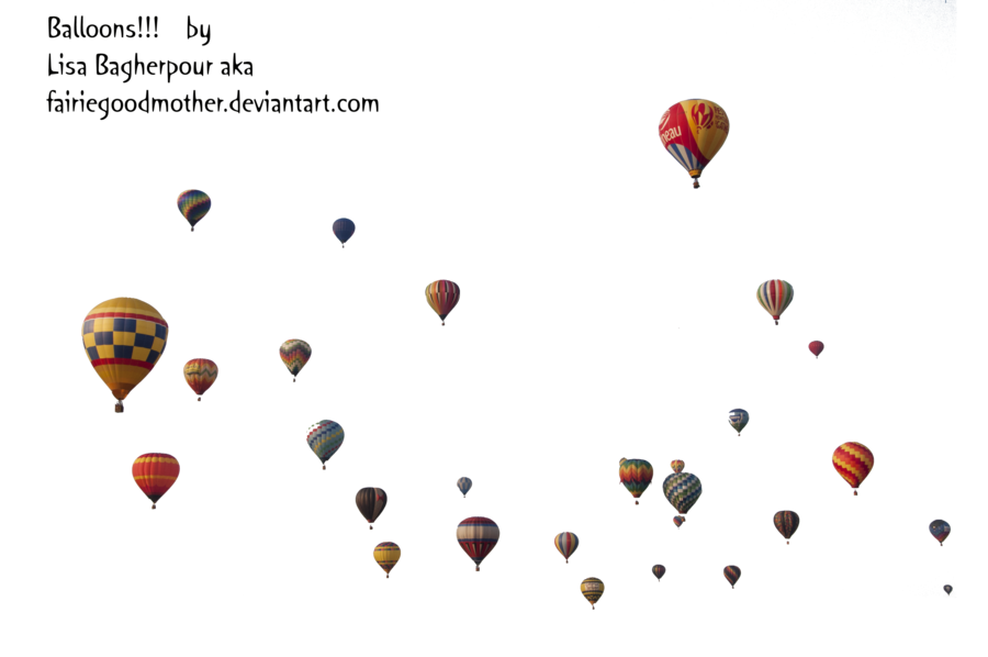 Hot air balloons png. Precute by fairiegoodmother on
