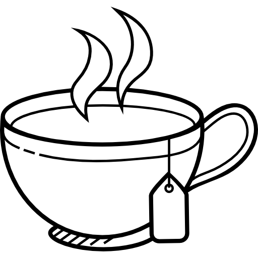 Hot clipart tea. Png black and white