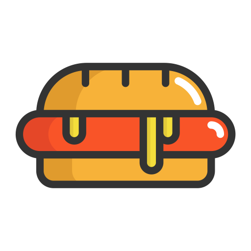 Hot dog vector png. Hotdog fruits icon with