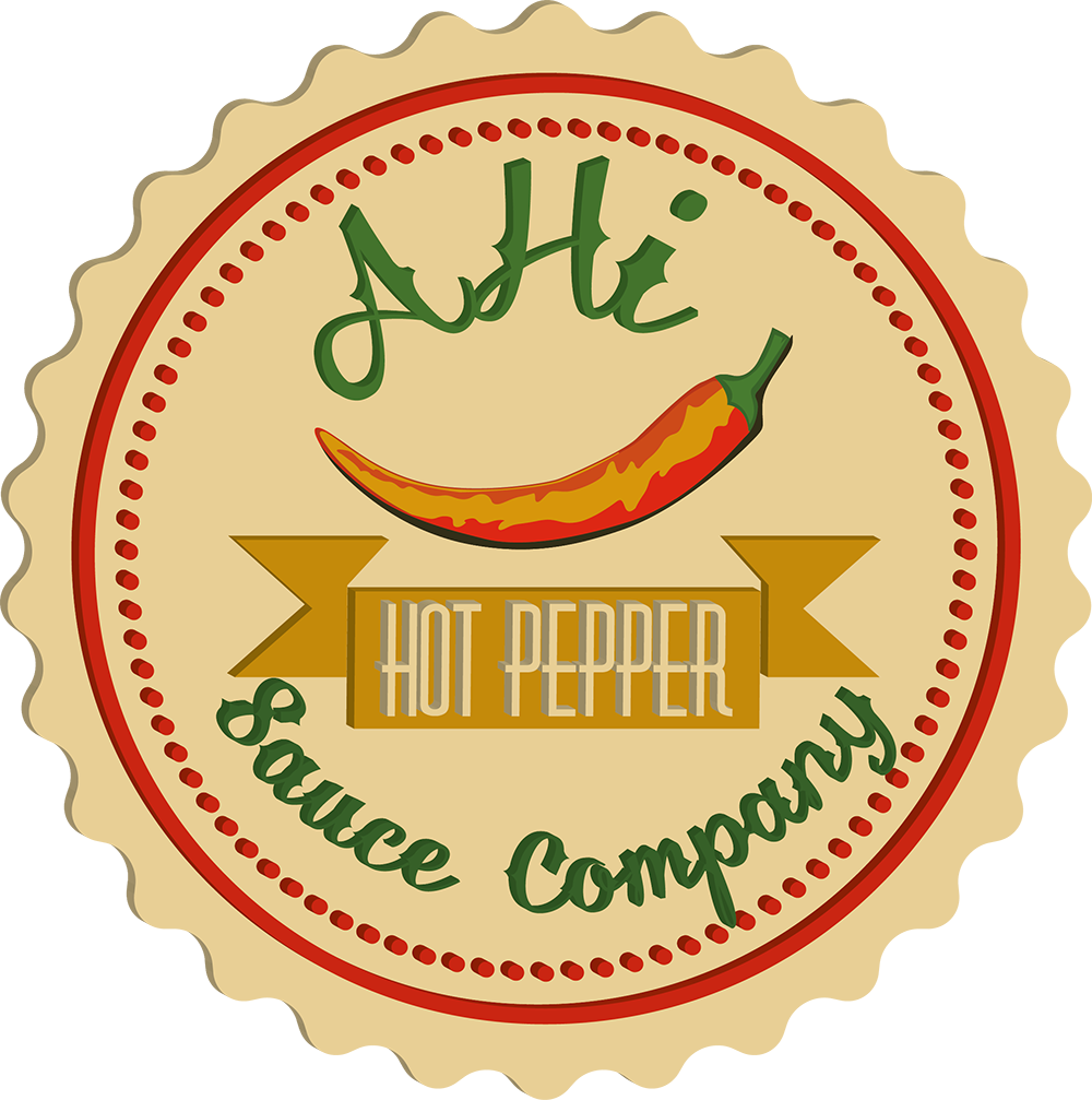 Hot vector price tag. Logo design for ahi
