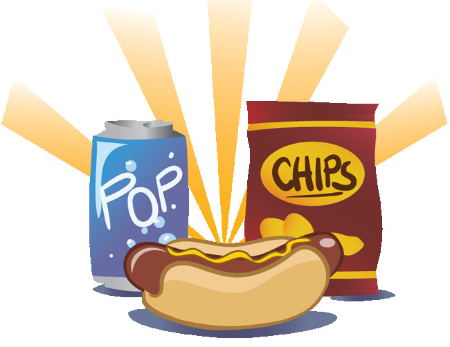 Hotdog clipart chip. Hot dog and chips