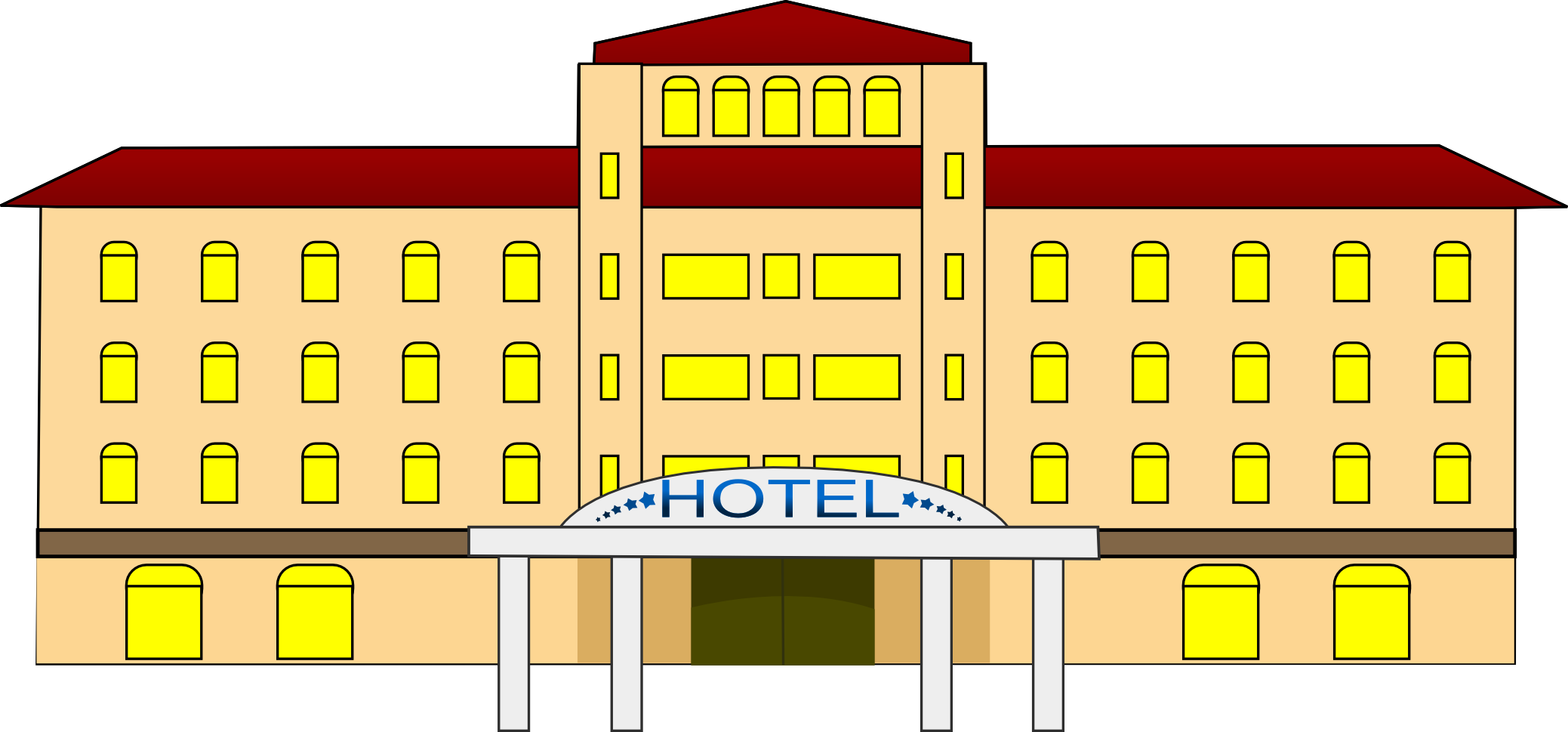 Hotel clipart. Building