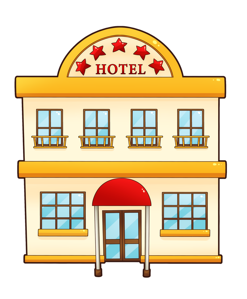 Hotel clipart cartoon. Free hotels cliparts download