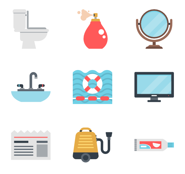 bathroom vector hotel key