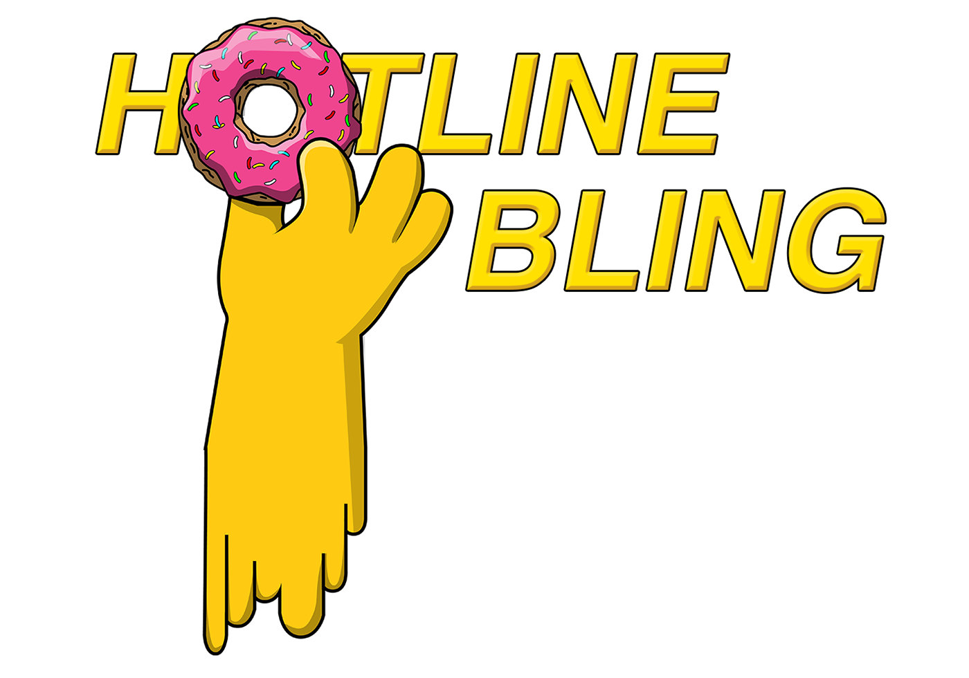 Hotline bling png. Simpsons x on behance
