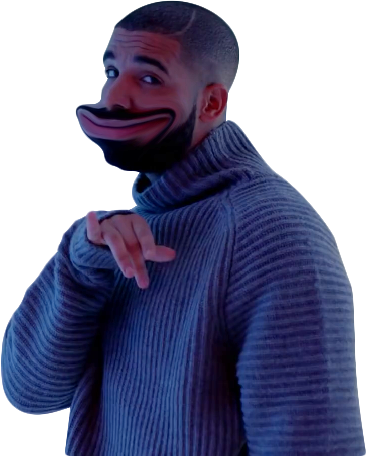 Drake from with a. Hotline bling png clipart transparent
