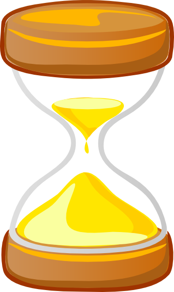 Hourglass clipart vector. Animated