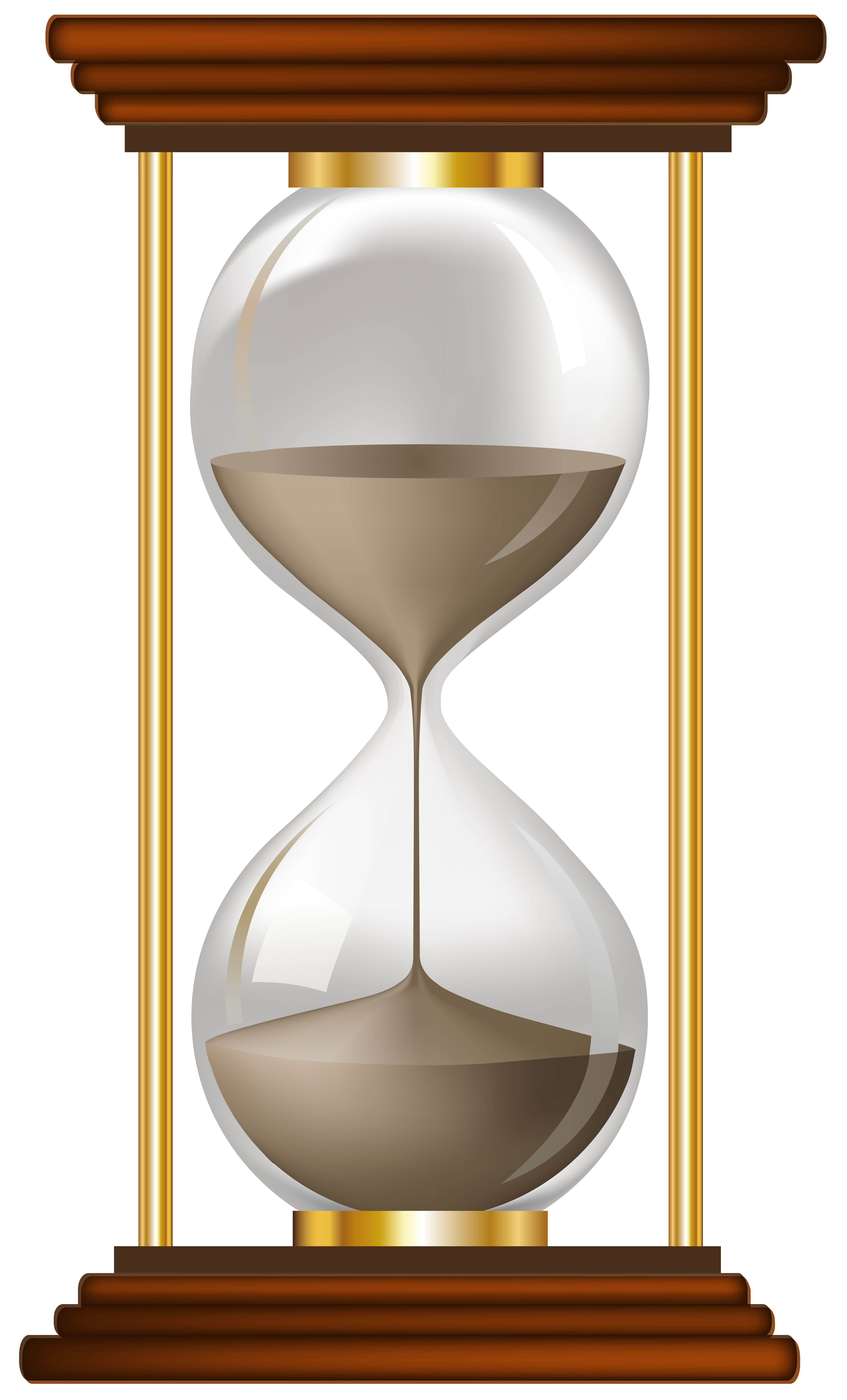 Sand clock png. Hourglass clipart empty clip
