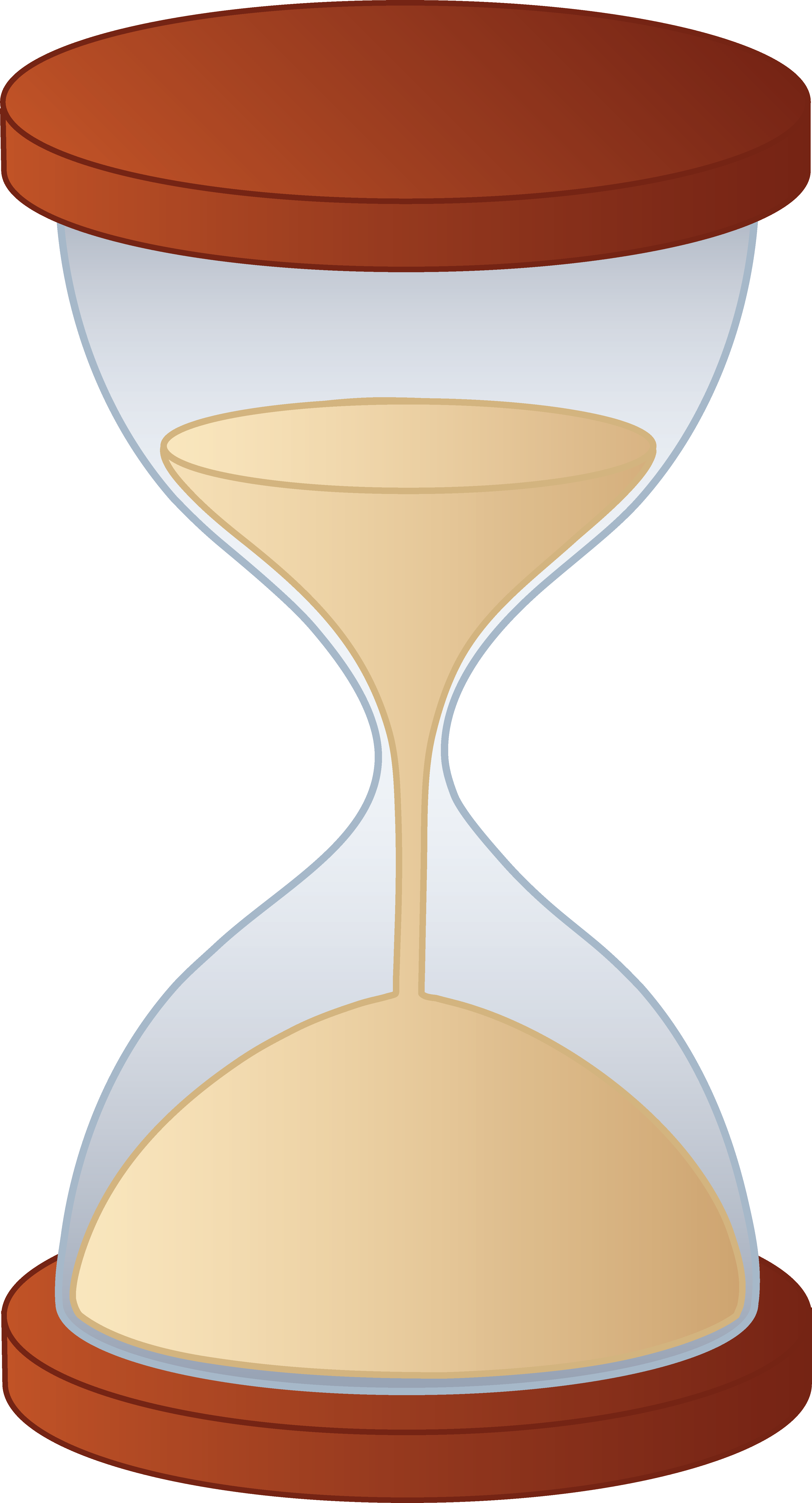 hourglass clipart vector