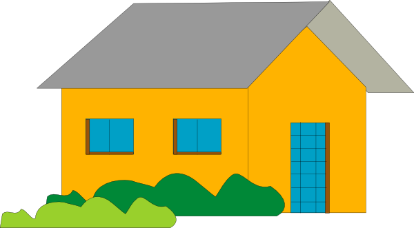 House cartoon png. Orange home clip art
