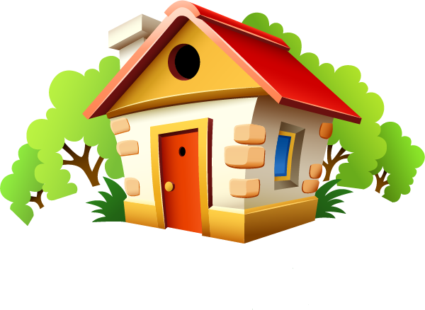 House cartoon png. Bedroom clip art small