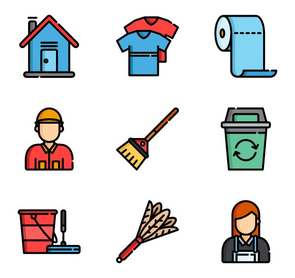 House cleaning png. Icon packs vector