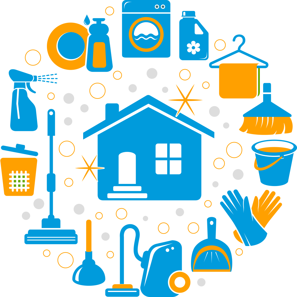 House cleaning png. Image url http busybeecleaningservices