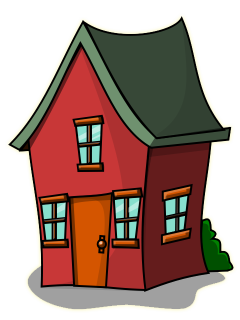 House clip. Image of cute clipart