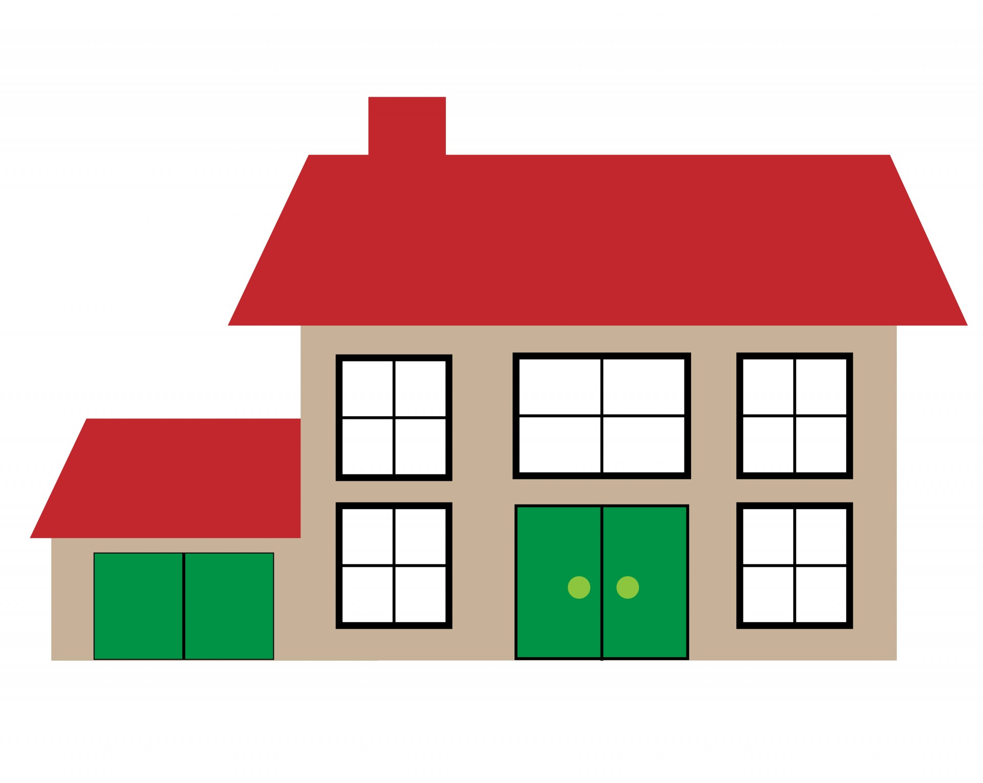 House clipart. Illustration free stock photo